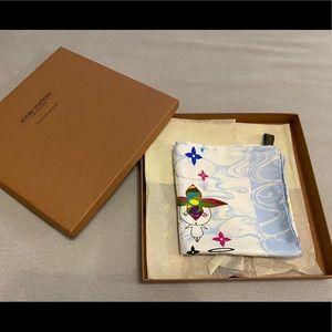 Louis Vuitton collectible silk scarf